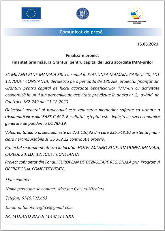 Finalizare Proiect - Milano Blue